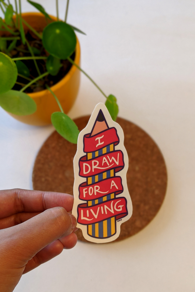 Draw 4 Living, Sticker